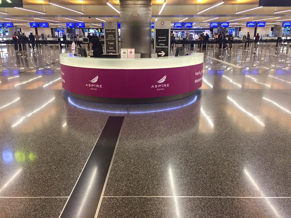 The amazing VIP treatment of the Aspire Zone begins before we even get through immigration