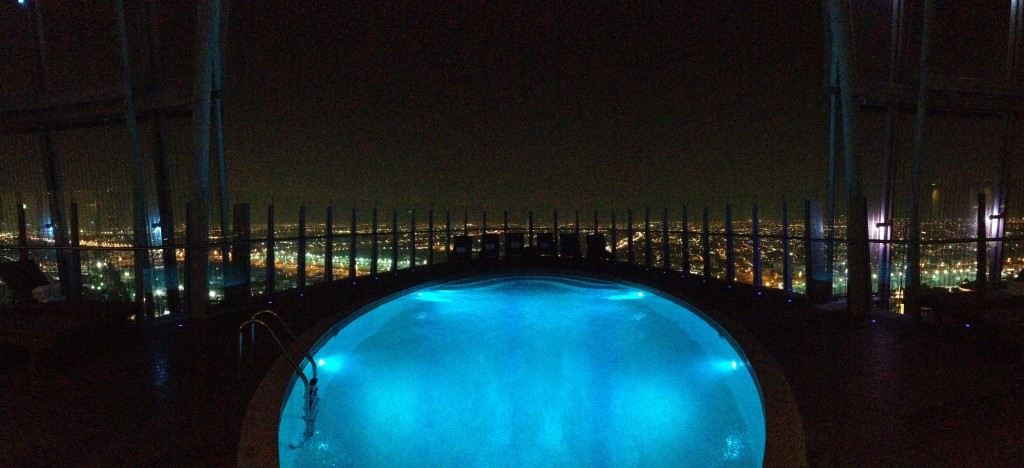 We're spoiled already - the view from the 19th floor open-air pool at The Torch.